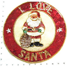 "Load image into Gallery viewer, Santa with Santa Bag  12"" patch or Just Santa 7"" X 4.75"""