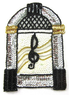 "Juke Box Sequin Applique  6.5"" x 4.5"""