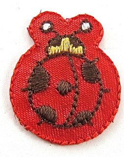 "Ladybug Embroidered Iron-on 1"" x 1"""