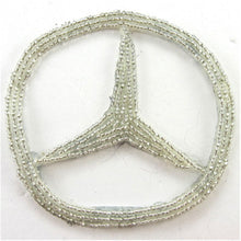 Load image into Gallery viewer, Mercedes Emblem Silver Beads 3.5""