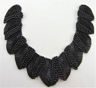 Neck Piece with Black  Beads