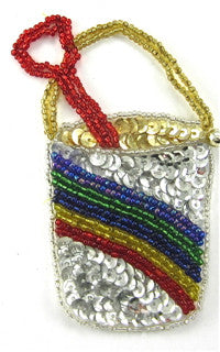 Pail and Shovel with Rainbow Sequin and Beads 4
