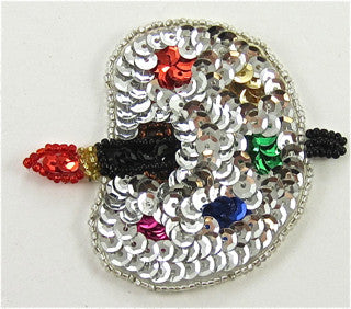 "Palette Silver and MultiColored Sequins 2.5"" x 3"""