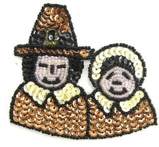 "Pilgrim Man and Lady 3"" x 4"""