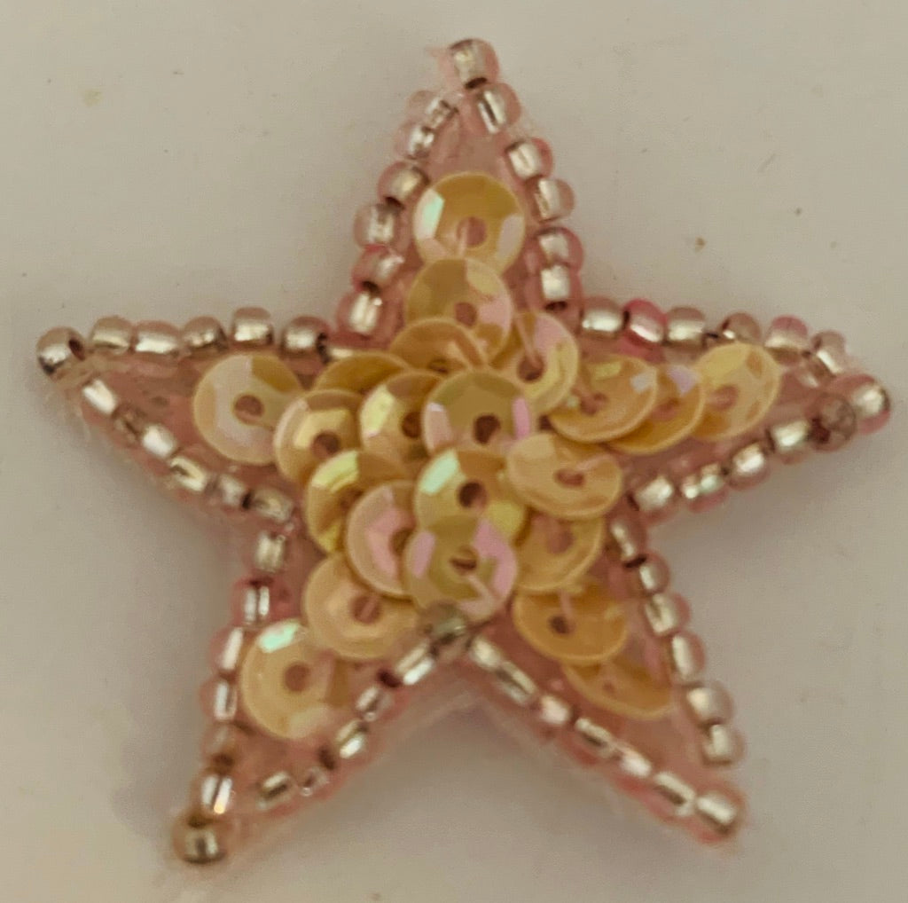 PINK Star  with Flat Light Trim or Dark Trim 1.25""