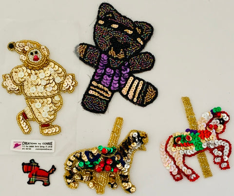 Assortment of Miscellaneous Animal Appliques