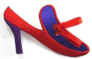 "Red Shoes Embroidered 2"" x 3"""