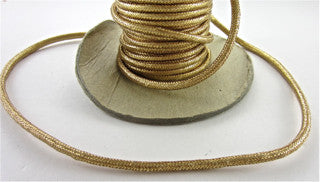 Rope Dark Gold Metallic Sold by the Yard