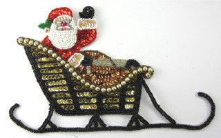 "Santa in Sleigh Waving 5.5"" x 8.5"""