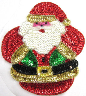 "Santa with Belt and Hat 6"" x 5"" Large"