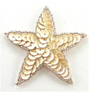 Star Lite Creamy with Dark Cream Beads 2 7/8""