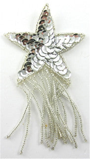 Star with Silver Fringe and Sequins 4