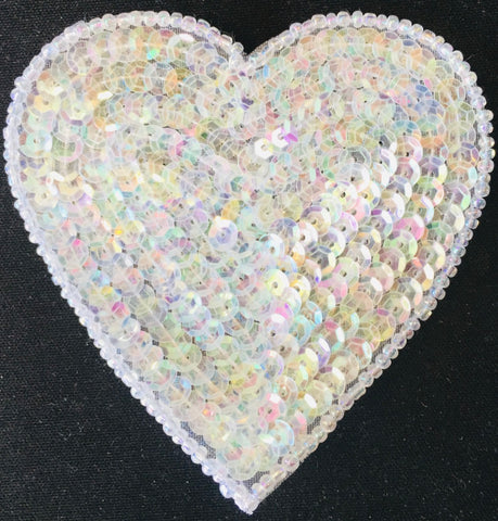 Heart Iridescent in 5 Size Variants