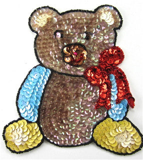 Teddy Bear sitting with Bow 5.5 x 5.5