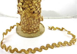 Trim Gold Tinsel Sold by the Yard