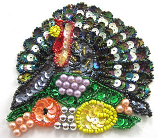 "Turkey MultiColored Sequins Large 5.5"" x 5.5"""