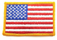 Patriotic American Flag Embroidered