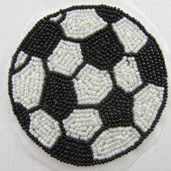 "Soccer Ball Black and White Beads 3.25"" x 3.25"""