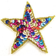 Star MultiColored 3 7/8""