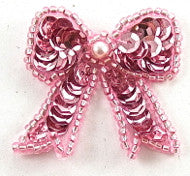 Bow Pink with Pink Pearl, 1""
