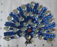 Silver and Blue Span Peacock