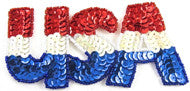 "USA Red/White/Blue Letters 2.5"" X 5"""
