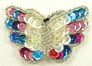 "Butterfly Iridesent MultiColored Sequins 1.5"" x 2.25"""