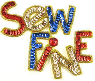 Sew Fine Sequin applique Word
