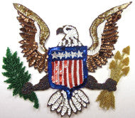 "Eagle with USA Flag, Arrows and Branch 9.5"" x 11.5"""