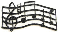 Music Scale Black Beaded 6.5""