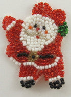 Santa Red and White Beads