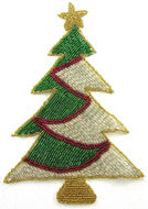"Tree Xmas All Beaded Large, 8"" x 5"""