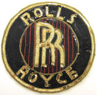 Rolls Royce Black Gold Red Strips Large 11""
