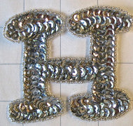 Letter H  Silver 3""