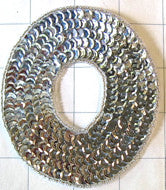 Letter O With Silver Sequins and Beads 4""