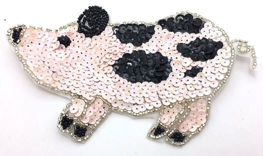 Pig w/ Pink and Black Sequins, in 2 variants, 6