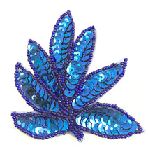 "Load image into Gallery viewer, Leaf Royal Blue Single 3.75"" x 3.25"""