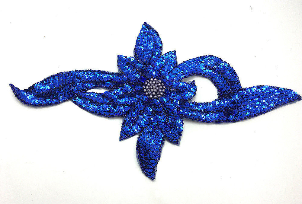 "Flower Royal Blue Large 13.5"" x 7.5"""