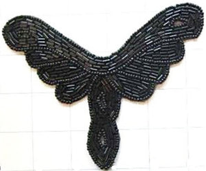 "Deigner Motif with Black Beads 5.5"" x 4.25"""