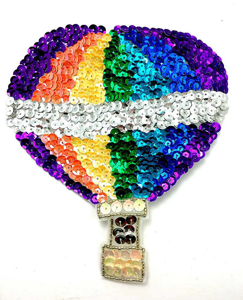 "Hot Air Balloon Multi-Colored 6"" x 6.5"""