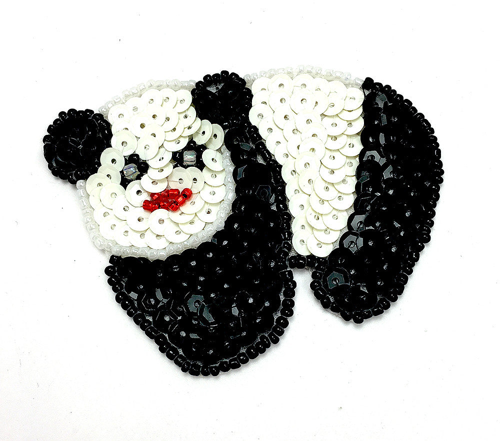 "Panda Bear with Black and White Sequins 2.5"" x 3"""