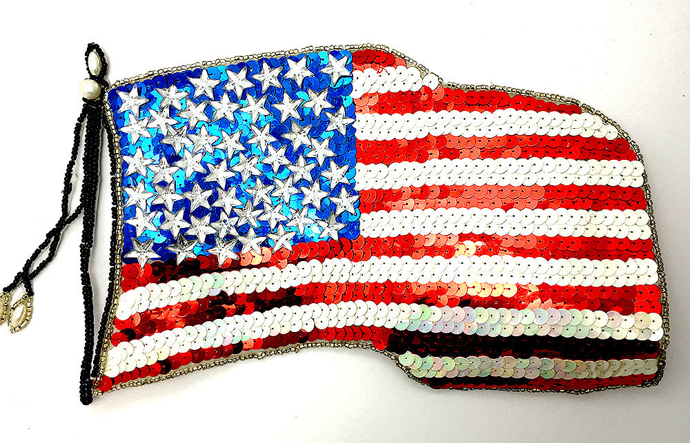 "US Flag Red White and Blue 11"" x 8"""