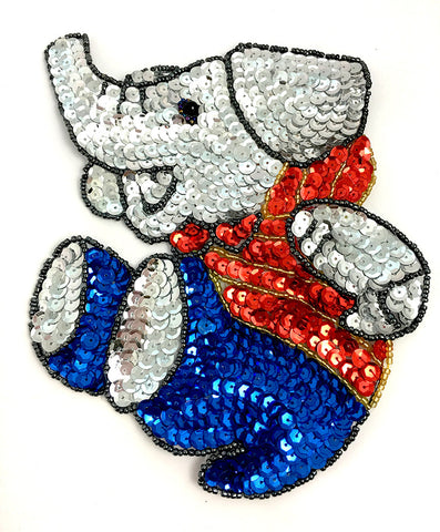 "10 PACK Elephant Playful Sequin Beaded 6.5"" x 5.5"""