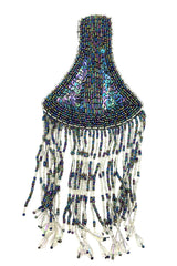 "Shoulder Epaulet with Choice of Color Sequins and Beads 9"" x 4"""