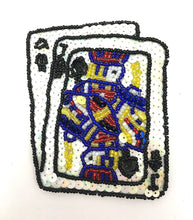 "Load image into Gallery viewer, Ace Jack Playing Cards 4"" x 3.5"" - Sequinappliques.com"