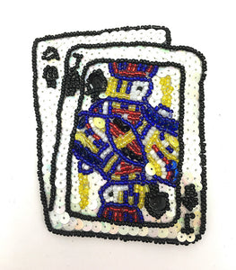 "Ace Jack Playing Cards 4"" x 3.5"" - Sequinappliques.com"