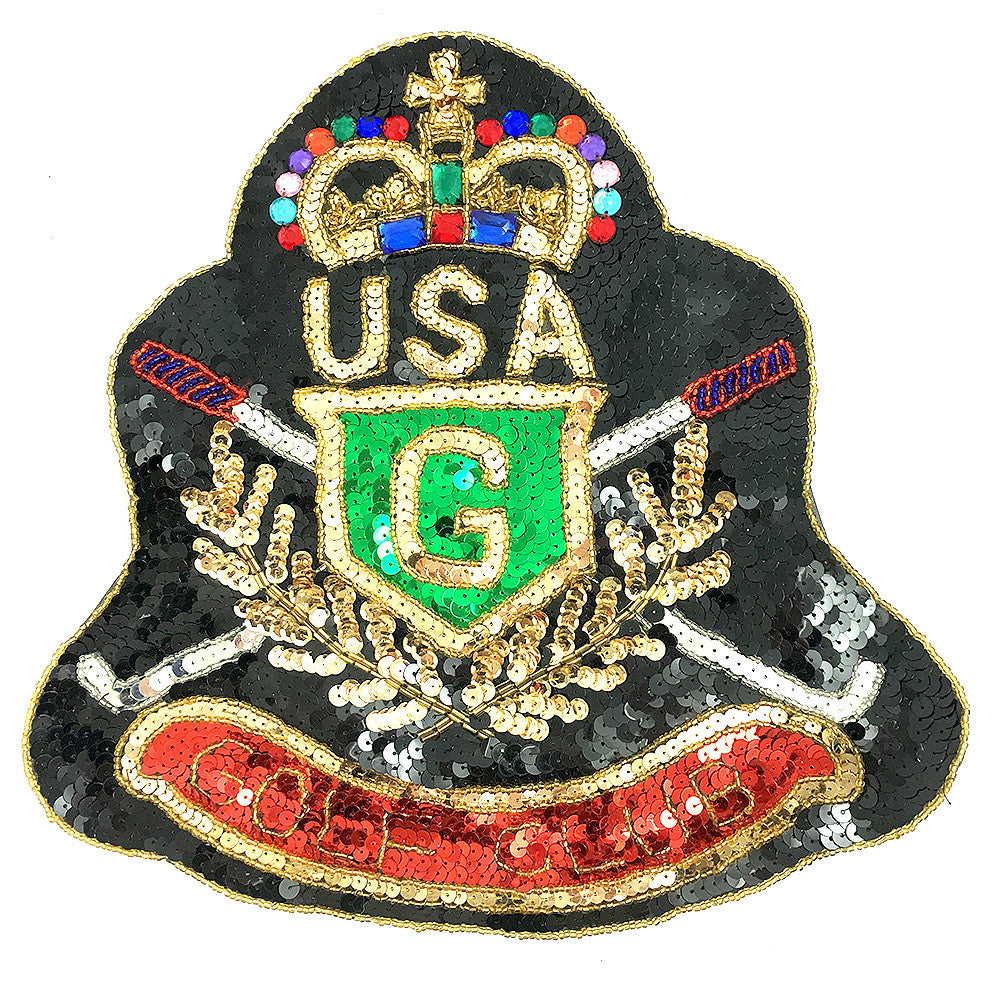 "5 PACK Golf Club USA Patch Sequin Beaded  11"" x 10"" - Sequinappliques.com"