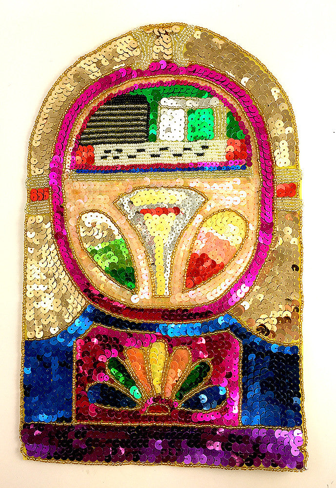 Jukebox with Multi-Colored Sequins and Beads 13