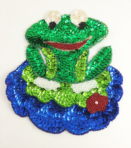 "10 PACK Frog on a Lily Pad 7"" X 6.25"""