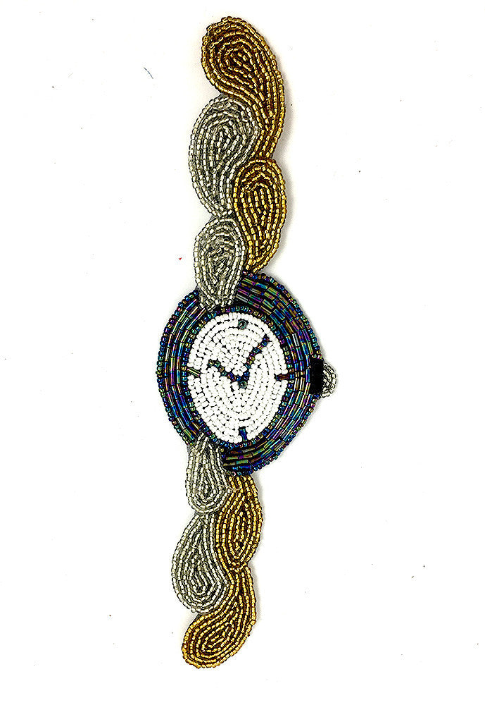 "5 PACK Wrist Watch with Beads 8.75"" x 2.5"" - Sequinappliques.com"